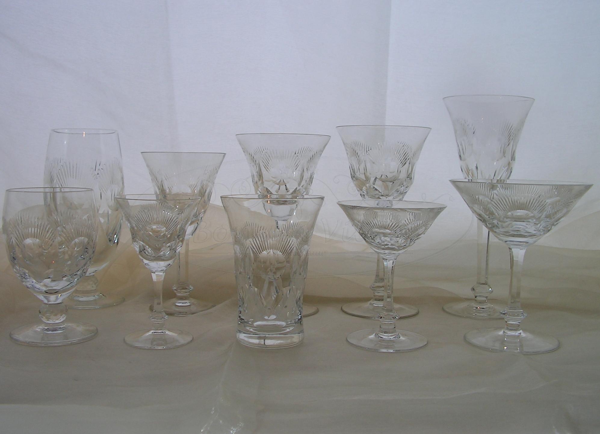 Kristallen drinkservies - 60 delig
