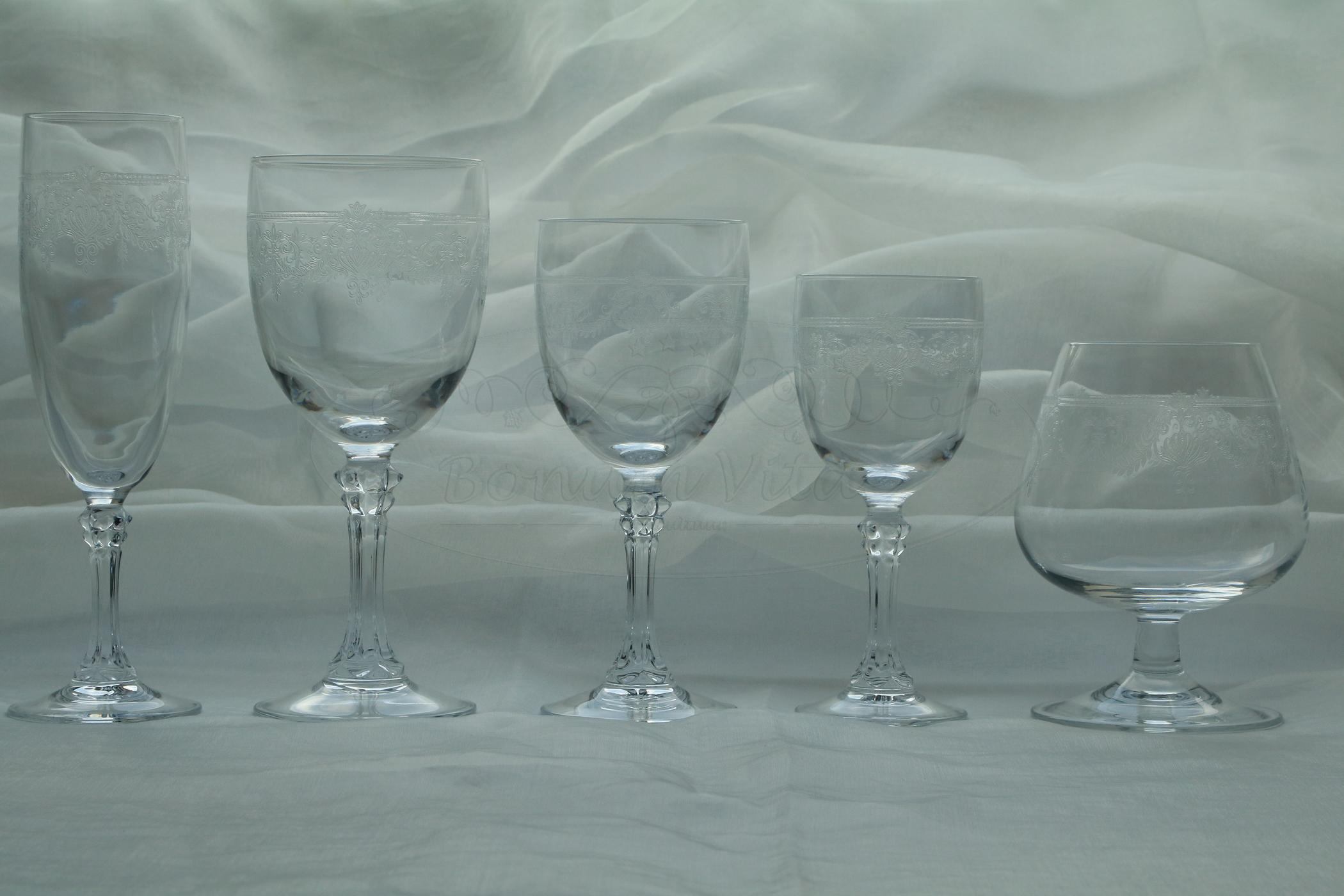 Kristallen drinkservies - 59 delig