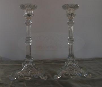 Antieke Glazen Kandelaars.Welkom Bij Bonum Vitae